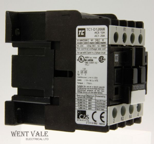 Robusta - TPID12008 P7 - 12a 5.5kW 415v AC1 - Control Relay 230v Coil